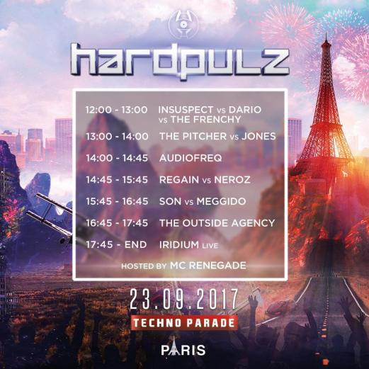 Timetable char Hardpulz @ Techno Parade 2017