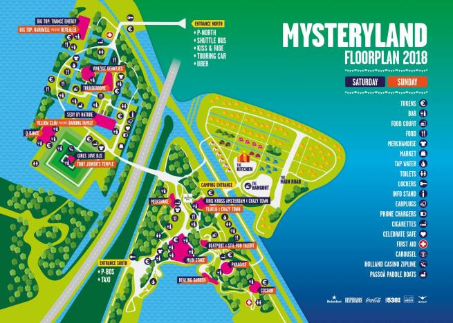 Map Mysteryland 2018 - Passion BPM