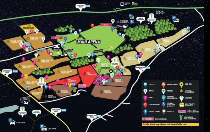 Creamfields 2019 map - Passion BPM